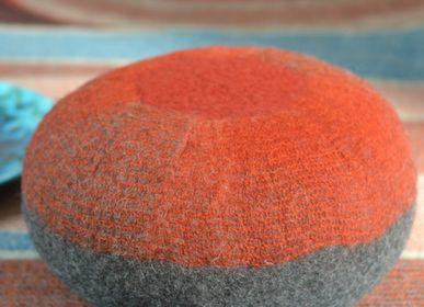 Fabric cushions - Zafu hand made wool felt cushion - GHISLAINE GARCIN