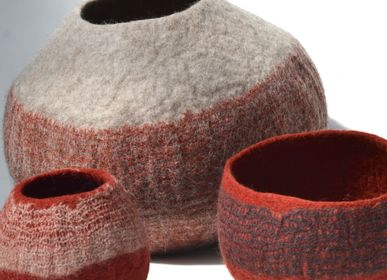 Decorative objects - M&F Handmade Wool Felt Pots, Baskets - GHISLAINE GARCIN