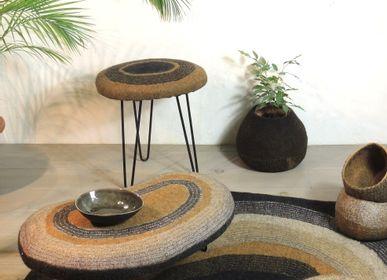 Stools - M&F Round Handmade Wool Felt Stool - GHISLAINE GARCIN