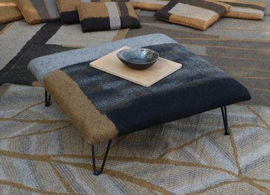 Stools - M&F square seat in hand-made wool felt - GHISLAINE GARCIN