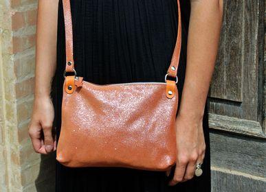 Clutches - Comète leather bag Glitter - LA CARTABLIÈRE