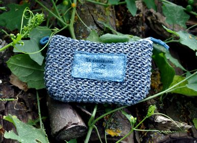 Clutches - Rikiki Wrist Strap - Interlaced and Leather - LA CARTABLIÈRE