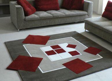 Autres tapis - Tapis Ce carré ne tourne pas rond tufté main - JORY PRADELLE