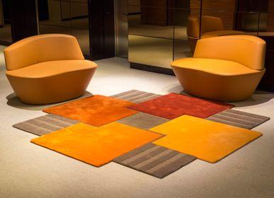Autres tapis - Tapis La ronde des carrés tufté main - JORY PRADELLE
