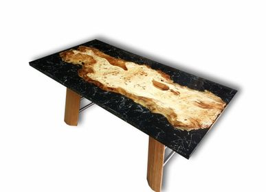 Kitchen Furniture - Mappa Burl Marmor Epoxy Dinning Table - JUNIKOR