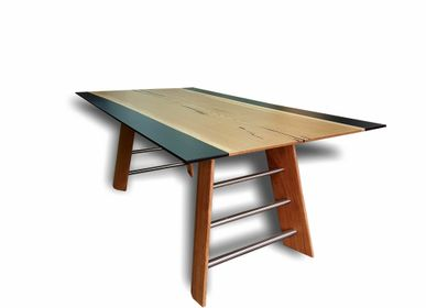 Tables - Oak Wood Epoxy Table - JUNIKOR
