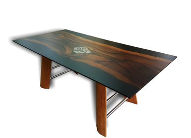 Tables - Live Edge Walnut Wood Epoxy Table - JUNIKOR