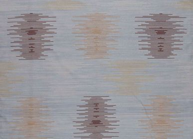 Contemporary - Minimalist Ikat Rug in Bamboo Silk - AZMAS RUGS