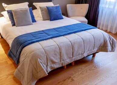 Bed linens - Handmade Reversible Wool Blanket - ISABELLE BOUBET