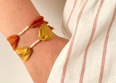 Jewelry - Florette cultured pearls silk bracelet - JOUR DE MISTRAL