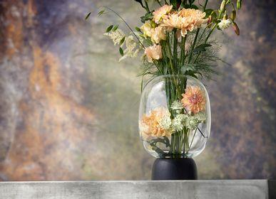 Vases - Morchella Vase Black/Clear Glass, h. 27 cm - CHICURA COPENHAGEN
