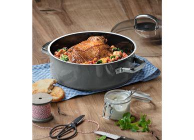 Faitouts - FUSIONTEC MINERAL Faitout/cocotte ovale 28cm/6 L Platinum - WMF
