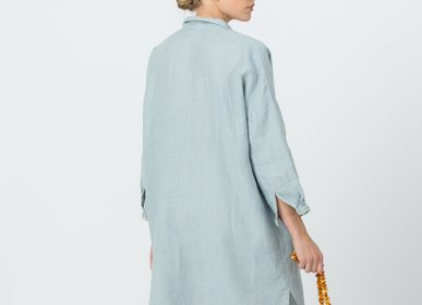 Homewear - Chemise longue en lin VANDA - JURATE