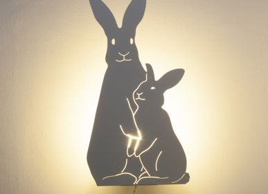 Autres décorations murales - THE BUNNIES LAMP - IVOIRE - GOODNIGHT LIGHT