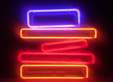 "Paintings - neon painting ""B00Ks"" - CAROLINE BAUP"