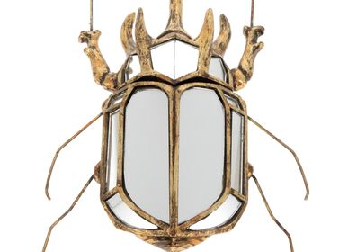 Decorative objects - Rhinoceros beetle wall deco with mirrors - CHEHOMA