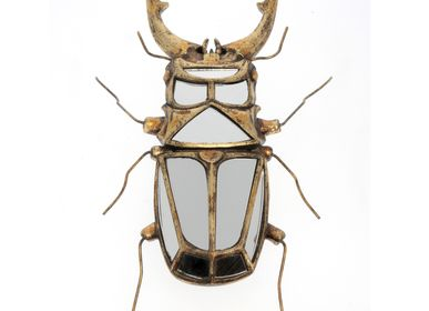Decorative objects - Stag beetle wall decor with mirrors - CHEHOMA