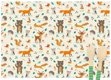 Birthdays - 6 Forest Animals Placemats - Recyclable - ANNIKIDS