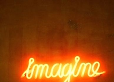 "Paintings - neon painting ""IMAGINE"" - CAROLINE BAUP"