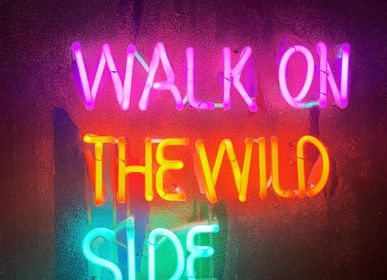 "Tableaux - tableau en néon ""walk on wild side"" - CAROLINE BAUP"