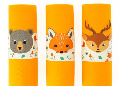 Birthdays - 6 Napkin Rounds Forest Animals - Recyclable - ANNIKIDS