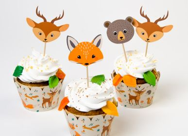 Birthdays - Forest Animals Cupcakes Kit - Recyclable - ANNIKIDS