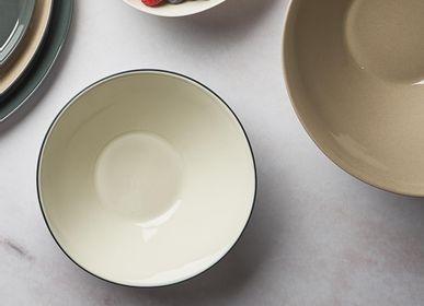 Platter, bowls - ELLIPSE Double Color Bowls - ESMA DEREBOY HANDMADE PORCELAIN