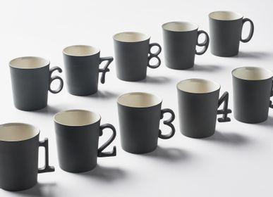 Mugs - Figures Espresso Cup / Double Colour - ESMA DEREBOY HANDMADE PORCELAIN