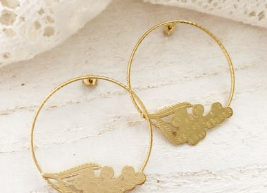 Jewelry - Mimosa hoop earrings flower - JOUR DE MISTRAL