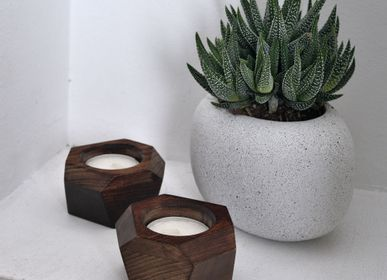 Candlesticks / candle holders - Candle holder set «Wood Job» - VERY MARQUE