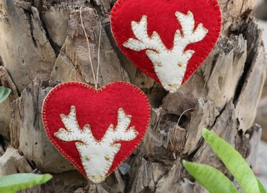 Christmas decoration - Handmade Felt Decorative Garlands - DE KULTURE WORKS