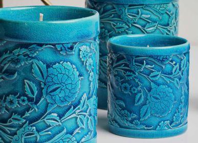 Objets de décoration - LEVNALEVN Bougeoir Turquoise - ESMA DEREBOY HANDMADE CERAMIC