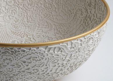 Ceramic - SNOHA Lace Patterned Ceramic Bowl - ESMA DEREBOY HANDMADE CERAMIC
