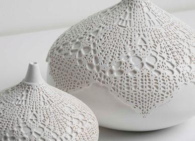 Decorative objects - SAF Lace Patterned Decorative Object - ESMA DEREBOY HANDMADE CERAMIC