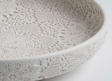 Ceramic - SAF Lace Patterned Bowl - ESMA DEREBOY HANDMADE CERAMIC