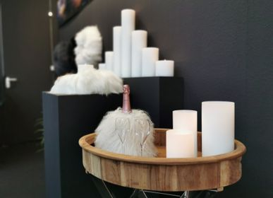 Design objects - Candle cover  & champagne cooler of tibetian lamb - QULT DESIGN GMBH