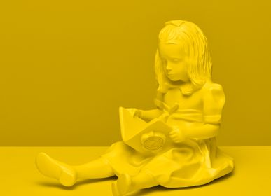 Decorative objects - RESIN FIGURINE color Yellow The Girl & the Book - BLOOP