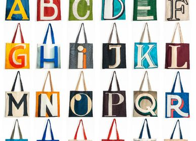 Stationery - Alphabet letter tote bags - MARON BOUILLIE