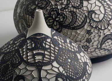 Decorative objects - YAS Lace Patterned Decorative Object - ESMA DEREBOY HANDMADE CERAMIC