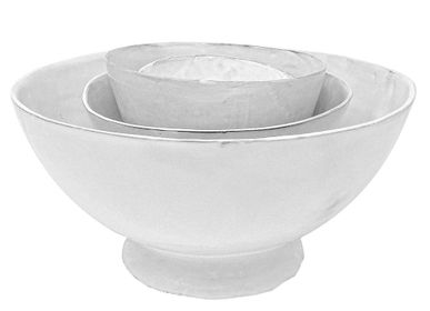 Bowls - White Ceramic Bowl Paris. Design by Mathilde Carron-Astier de Villatte - CARRON PARIS