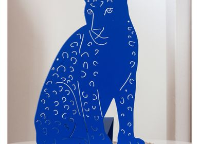 Autres décorations murales - THE LEOPARD LAMP - BLEU KLEIN - GOODNIGHT LIGHT