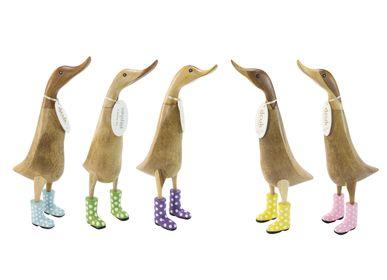 Objets de décoration - Canards avec bottes en cuir velours à pois - DCUK