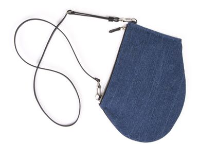 Bags / totes - Zip Maxi - Upcycled dark denim bag with removable shoulder strap - MLS-MARIELAURENCESTEVIGNY