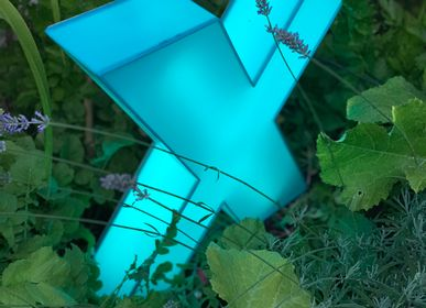 Sculptures, statuettes and miniatures - Outdoor neon sculpture in Plexiglass  - CAROLINE BAUP