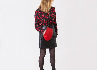 Clutches - Zip Maxi Pocket crossbody bag- blood red black - MLS-MARIELAURENCESTEVIGNY
