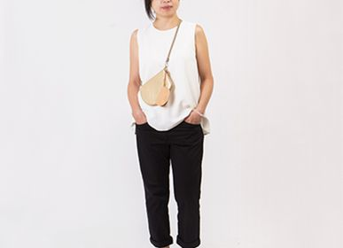 Clutches - Genderless Pocket maxi travel organiser cross body - Gold Leather - MLS-MARIELAURENCESTEVIGNY