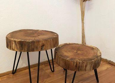 Objets de décoration - Table basse en bois massif, chêne - MASIV_WOOD