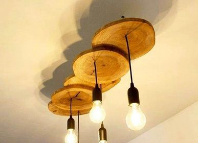 Hanging lights - Solid Wood Chandelier, Fir - MASIV_WOOD