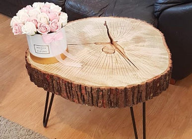 Decorative objects - Solid Wood Coffee Table, Linden - MASIV_WOOD