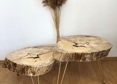 Objets de décoration - Table basse en bois massif, hêtre - MASIV_WOOD